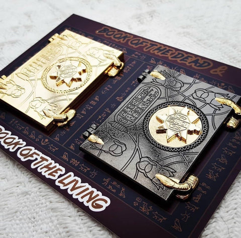 THE BOOK OF THE DEAD AND THE BOOK OF THE LIVING - 2 BOOK PIN SET