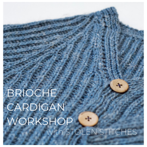 Brioche Cardigan Workshop