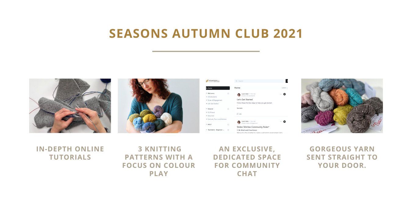 Elements of the Seasons Knitting Club explained