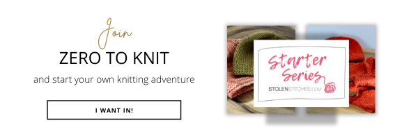 Zero to Knit images and link button
