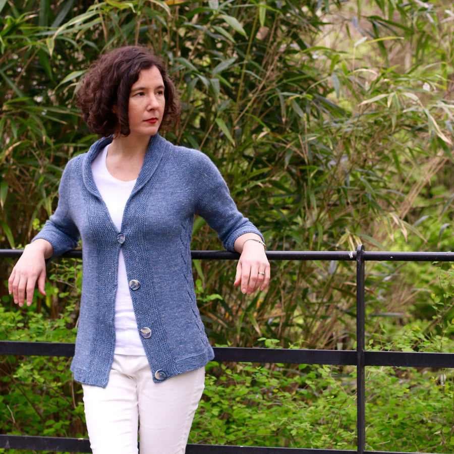 Sugarcane cardigan yarn kit