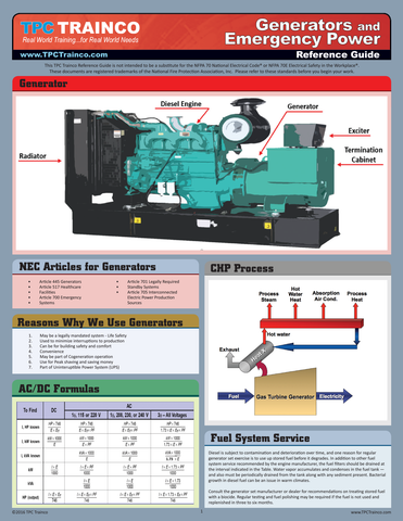Generators and Emergency Power Quick Reference Guide