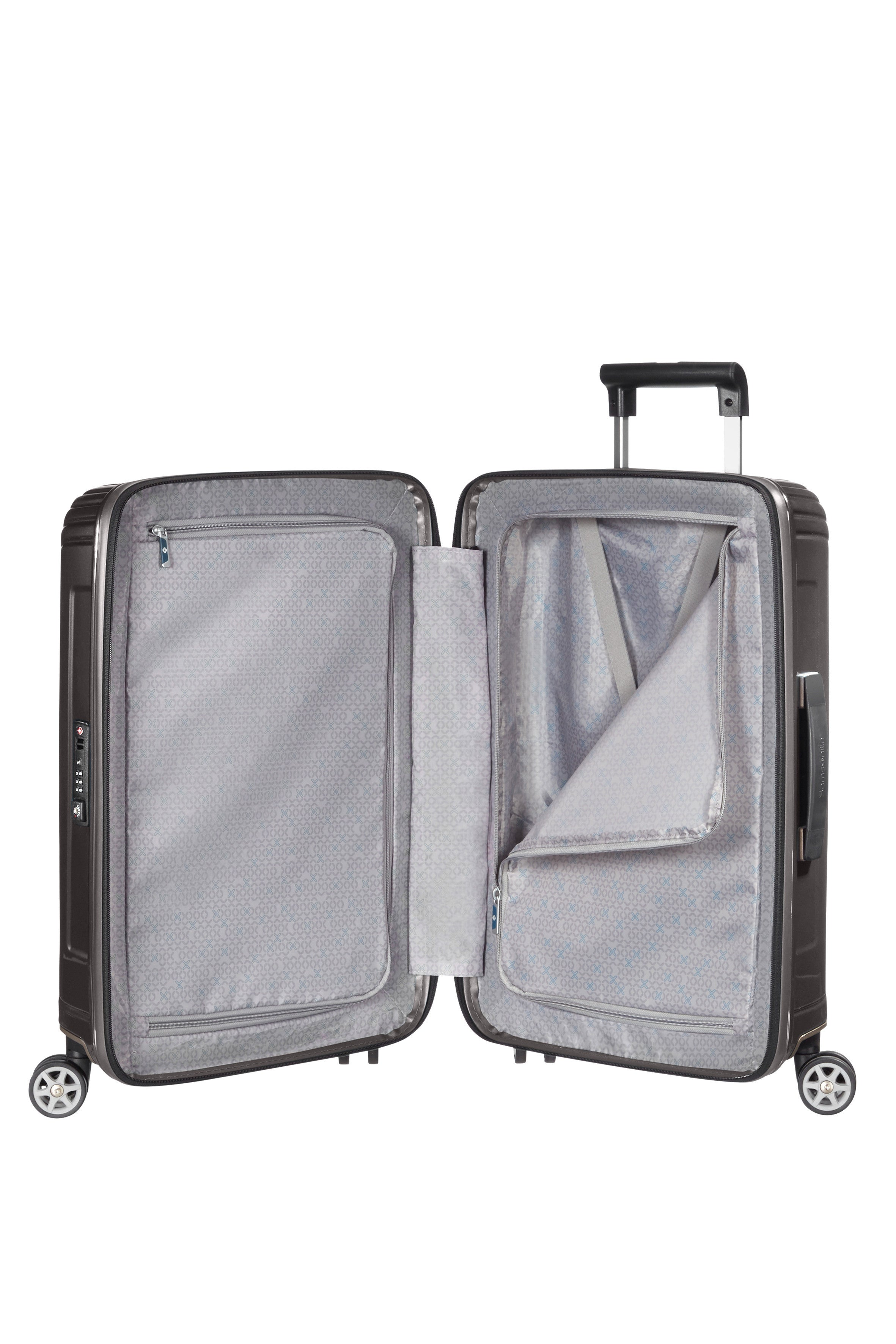 Samsonite Neopulse Spinner 55cm Metallic Zwart