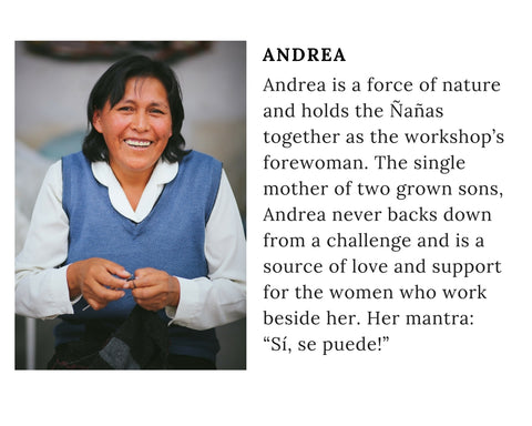 Know Your Chiri Knitter - Meet Peruvian artisan Andrea