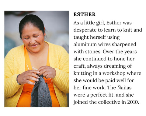 Know Your Chiri Knitter - Meet Peruvian artisan Esther