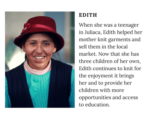 Know Your Knitter - Meet Peruvian artisan Edith