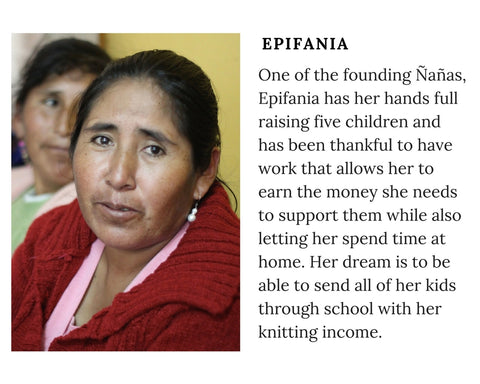 Know Your Chiri Knitter - Meet Peruvian artisan Epifania