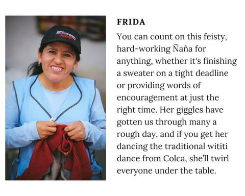 Know Your Chiri Knitter - Meet Peruvian artisan Frida