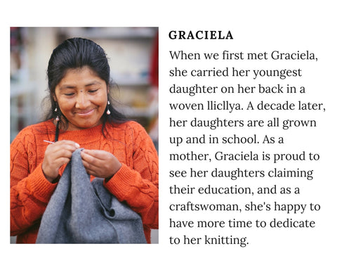 Know Your Chiri Knitter - Meet Peruvian artisan Graciela