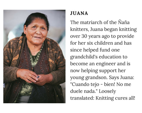 Know Your Chiri Knitter - Meet Peruvian artisan Juana
