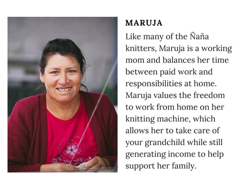 Know Your Chiri Knitter - Meet Peruvian artisan Maruja