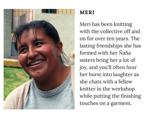 Know Your Chiri Knitter - Meet Peruvian artisan Meri