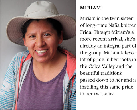 Know Your Chiri Knitter - Peruvian Ñaña Miriam