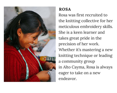 Know Your Chiri Knitter - Meet Peruvian artisan Rosa