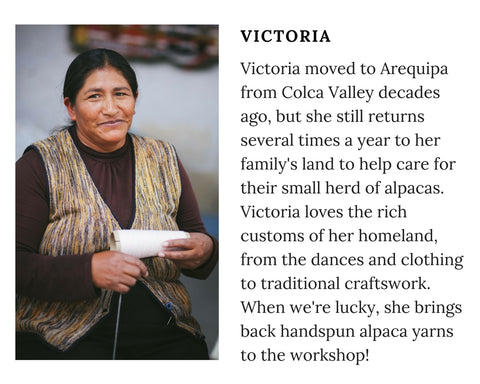 Know Your Chiri Knitter - Meet Peruvian artisan Victoria