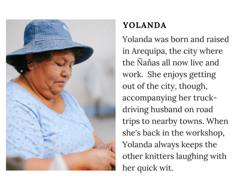 Know Your Chiri Knitter - Meet Peruvian artisan Yolanda
