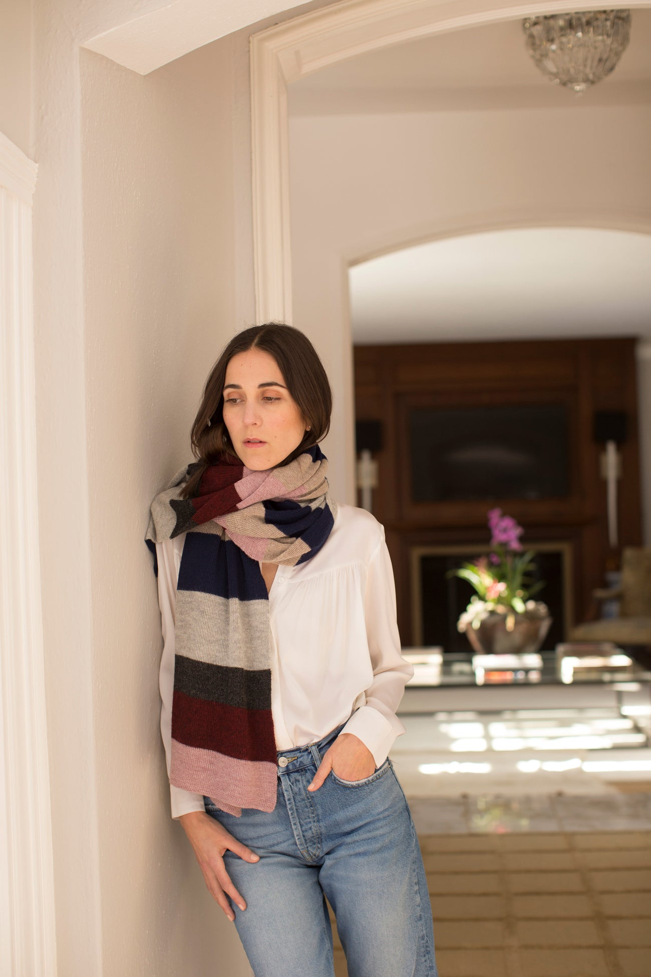Isabella striped shawl