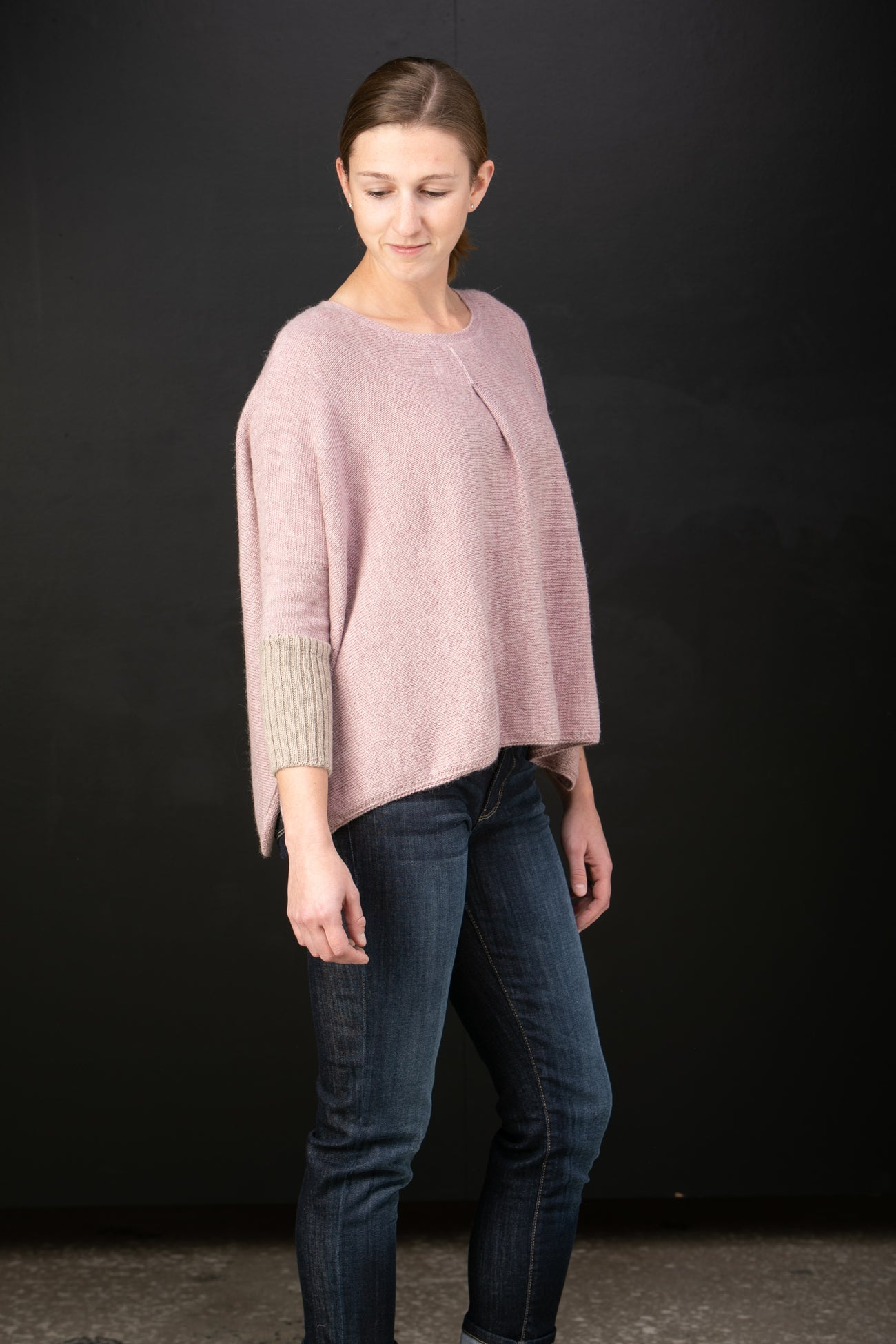 Chiri Rayzel baby alpaca sweater with pleat detail in Camellia pink