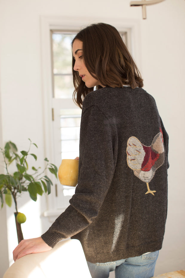 Nory Chicken Cardigan in Night