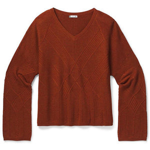 Shadow Pine Cable Vneck Sweater