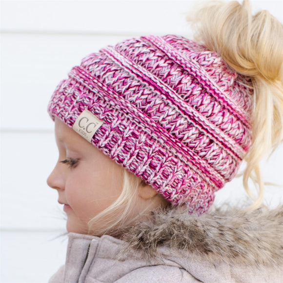 C.C® Kid Multi-Toned Ponytail Beanie