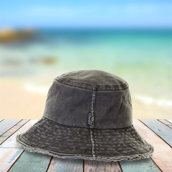 C.C® Frayed Washed Denim Bucket Hat