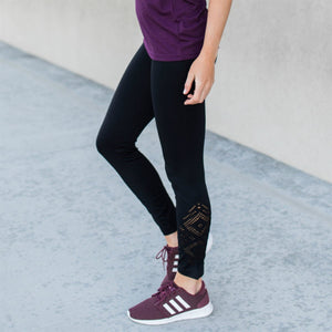 Ankle Detail Athleisure Leggings