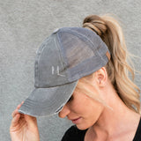 C.C® Multi Level Crisscross Pony Trucker Cap