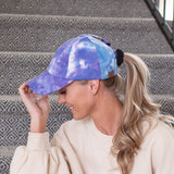 Tie Dye Criss-Cross Ball Cap