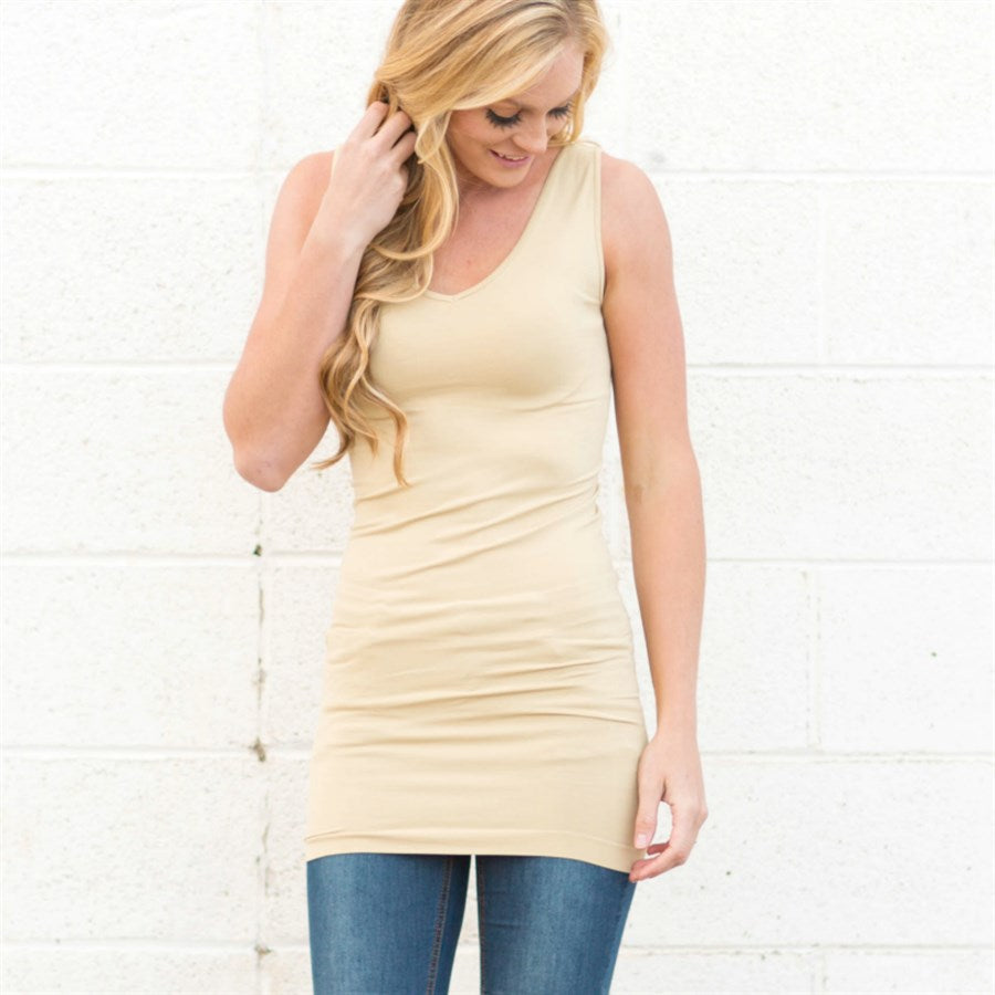 Reversible V-Neck & Crew In One Tanks