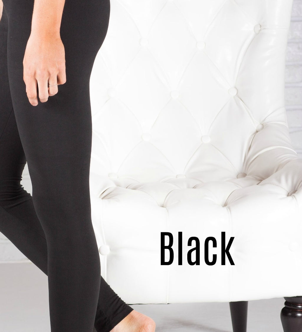 "5"" Waist Super Soft Fleece Lined Leggings"