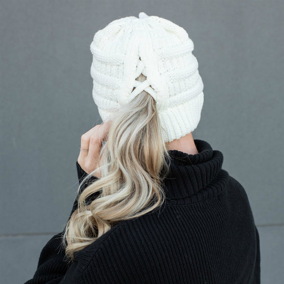 C.C® Criss-Cross Pony Beanie