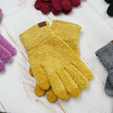 C.C® Eco-Friendly Chenille Touchscreen Glove