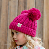 C.C® Kid's Double Pom Beanie | Sizes 2T-16