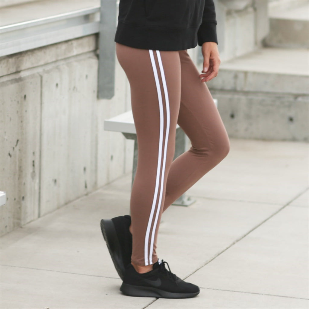 Athleisure Soft Stripe Leggings