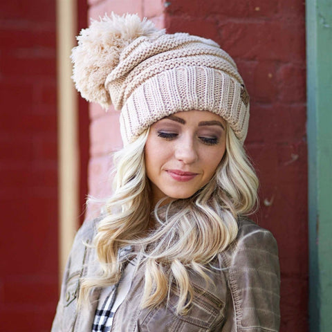 C.C. Yarn Pom Beanie | Adult Sizes