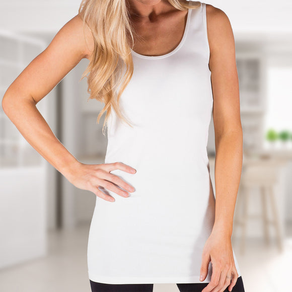 Extra Long Layering Scoop Back Tank