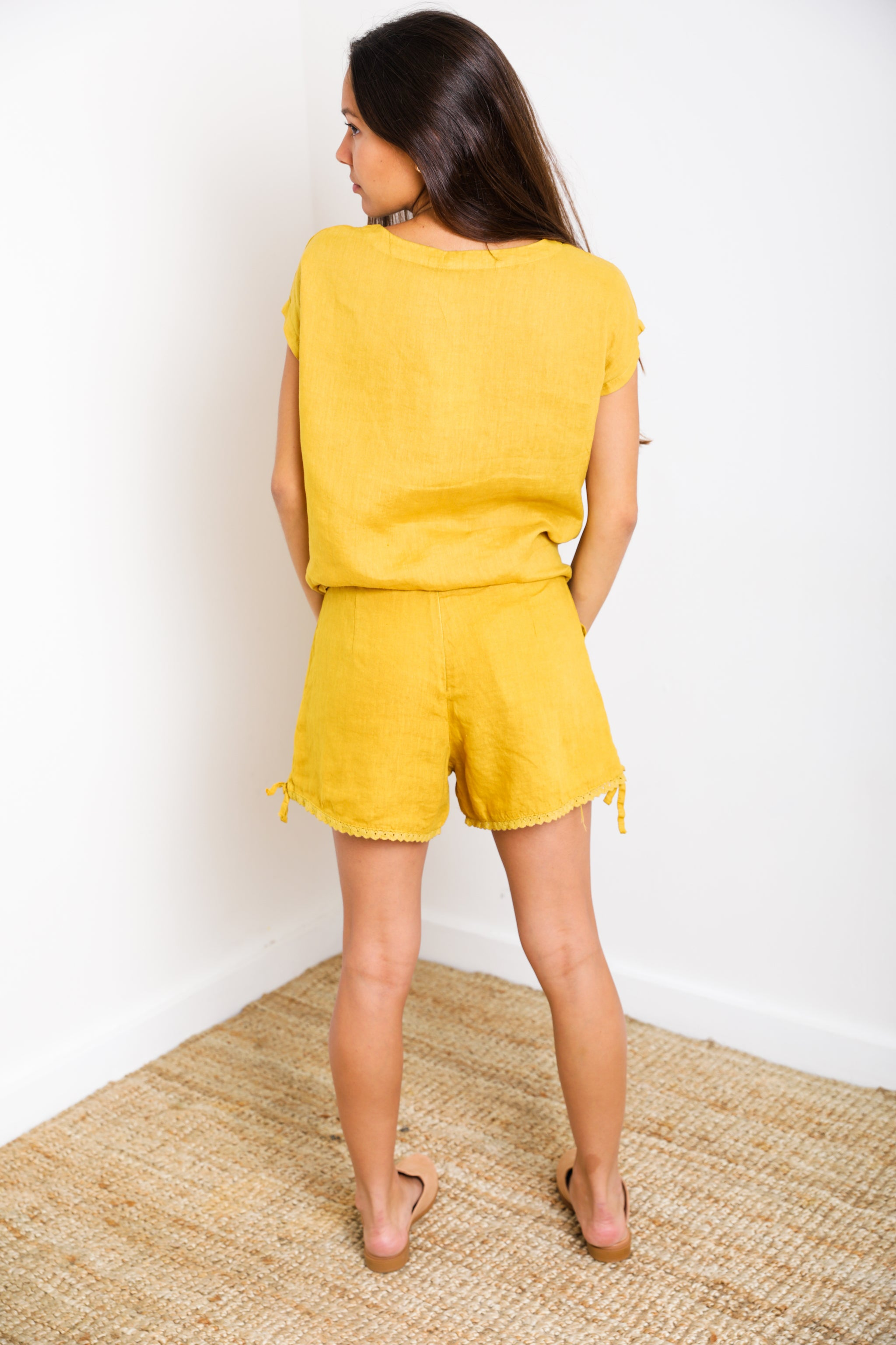 Olimpia Short in Mustard Linen