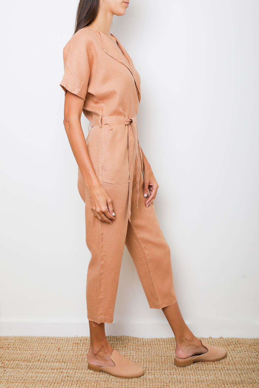 Oma Jumpsuit in Ocre Linen