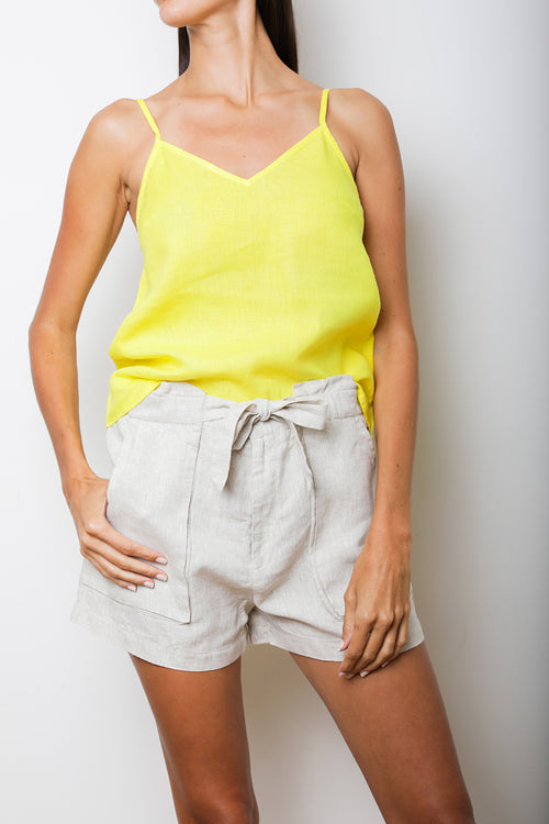Lush Cami Top in Lime Linen