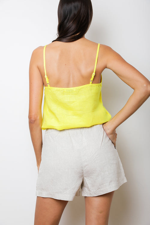 Lush Cami Top in Lime Linen back