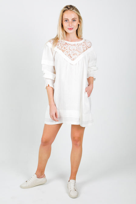 Flow Dress - White <br> Maria Vazquez x Lanhtropy