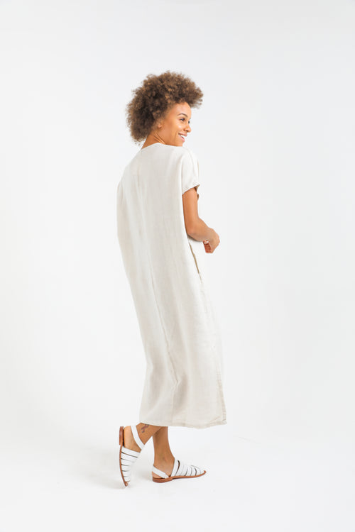 Tulum Long Caftan - Natural