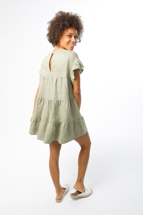 Sun Dress - Khaki Green