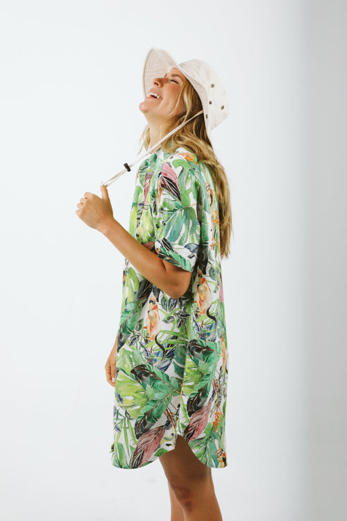 Alba Shirt Dress - Tropicalia Print