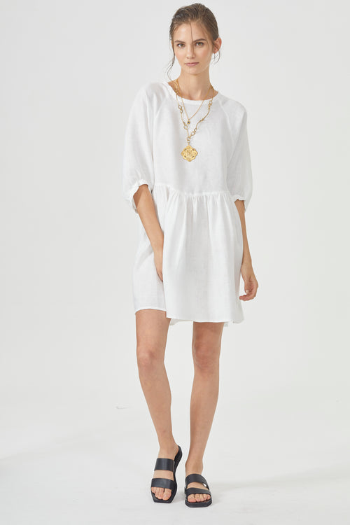 Alcala Dress - White