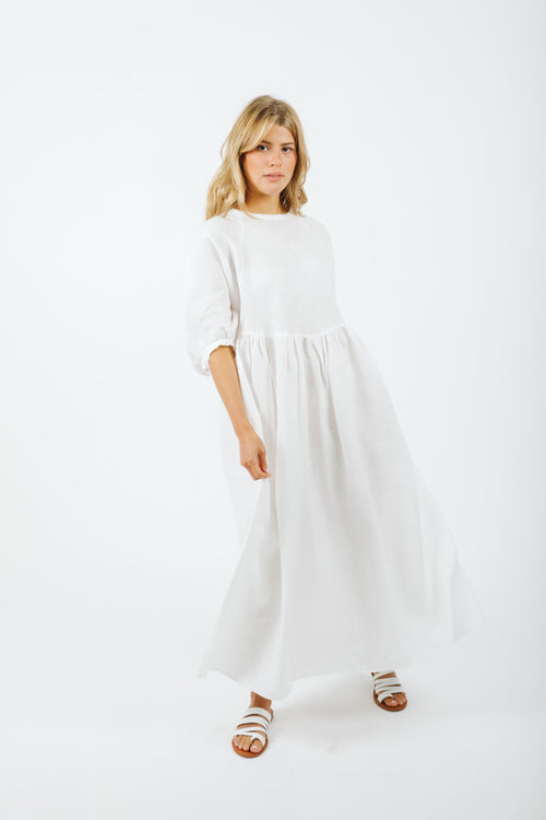 Alcala Long Dress - White