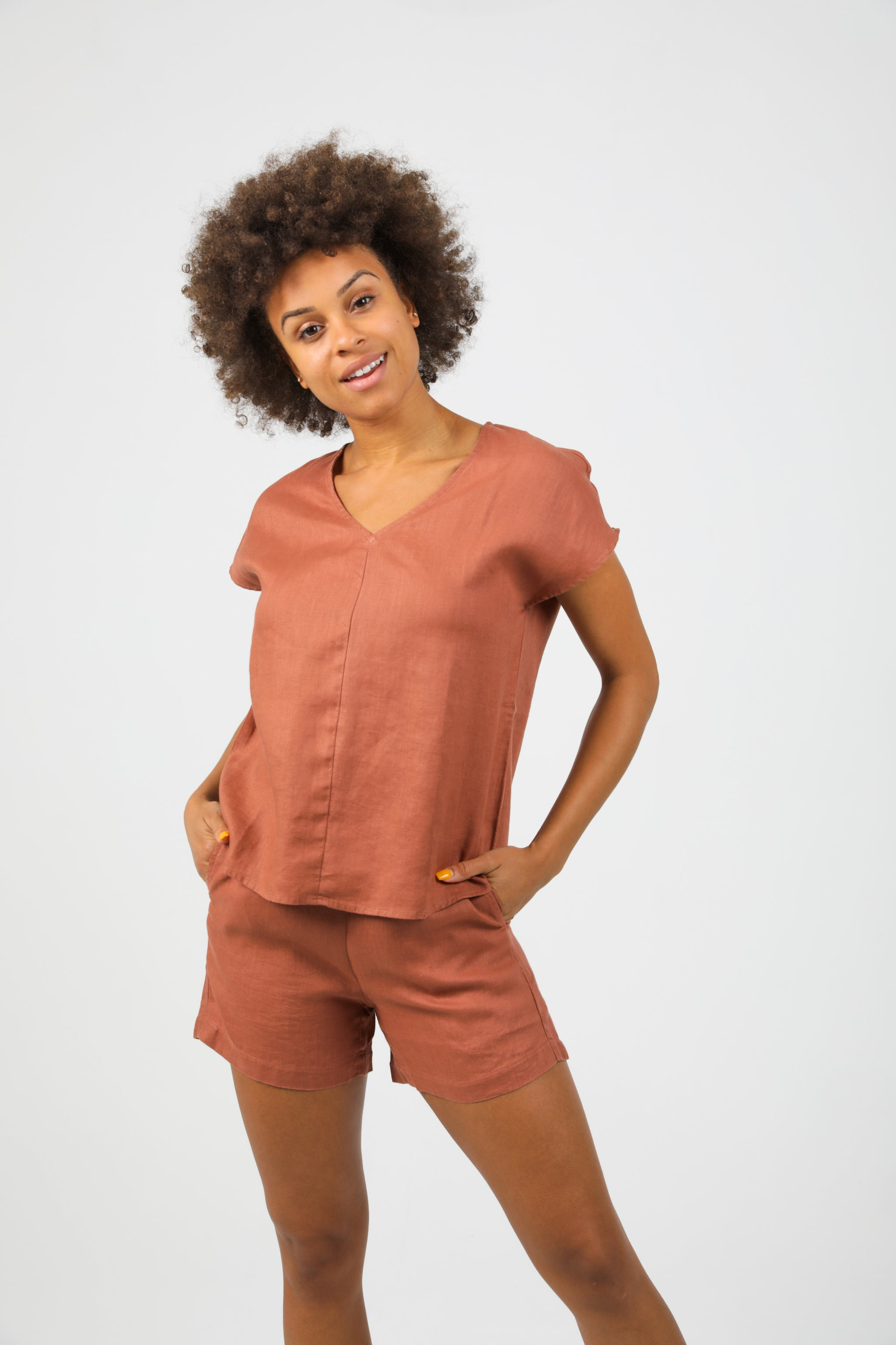 Lux Shorts - Terracotta