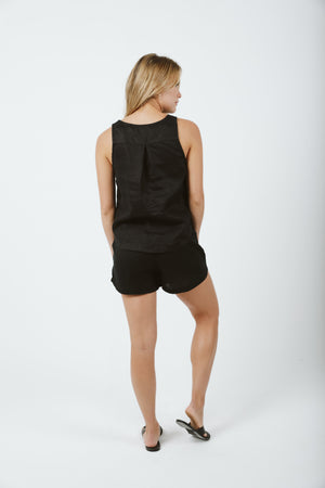 Elastic Shorts - Black