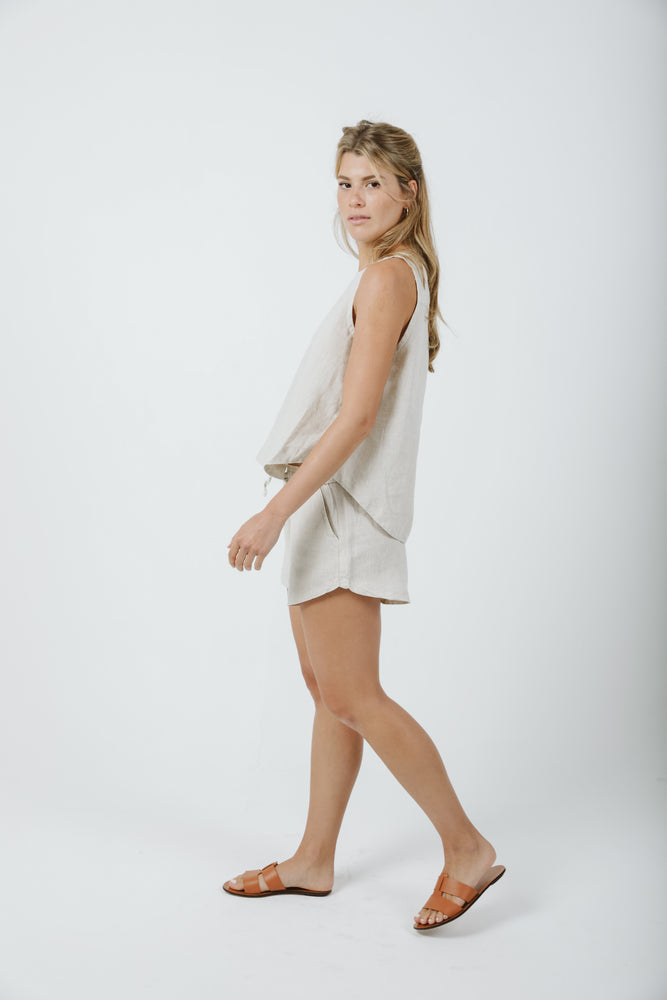 Elastic Shorts - Natural